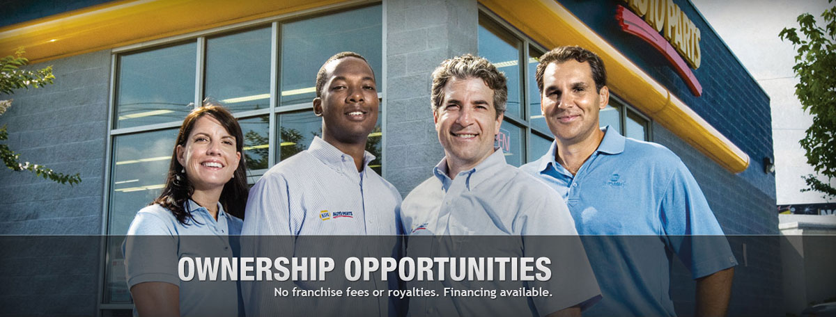 Ownership Opportunities — Owning a NAPA store is a family oriented, community based business opportunity with no franchise fees or royalties, and financing is available through NAPA's banking partners.