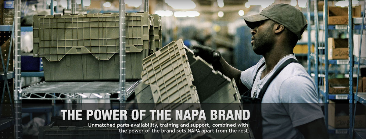 The Power of the NAPA Brand — 91% brand recognition, unmatched parts availability, and training and support sets NAPA apart from others in the auto parts industry.